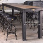 Firehouse Bar Table Vintage Industrial Furniture throughout Industrial Furniture - YUGTEATR
