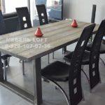 Table Manger Industrielle Beautiful Table de salle  manger industriel pied acier et bois massif grisé